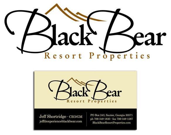 Black Bear Logo and Business Card