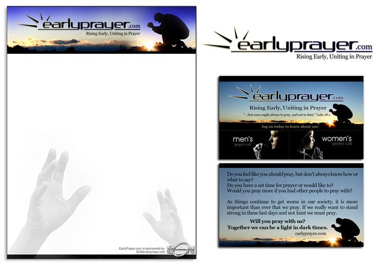 EarlyPrayer.com Logo, Business Card and Letterhead Design