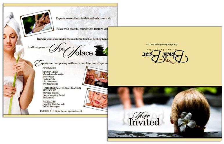 Black Bear Spa Folding Card